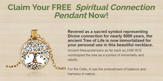 Free Spiritual Connection Pendant order now
