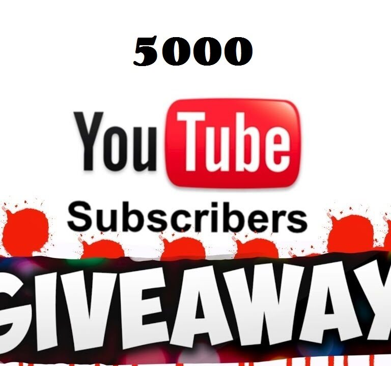 YouTube 5000 Subs Giveaway